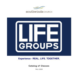 Fall 2020 Life Groups Catalog